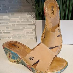 Born Hand Crafted Leather Wedges/Sandals